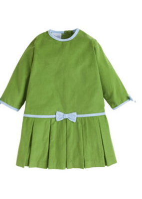 Little English Little English Samantha Dress Sage Green Corduroy 4 NWT