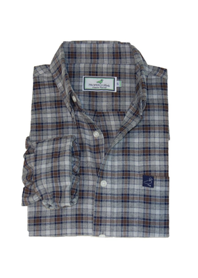 Properly Tied Properly Tied Lil Ducklings Flannel Marks Shirt Gray 3 NWT
