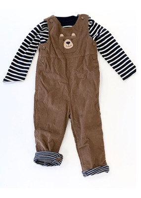 Jojo Maman Bebe' JoJo Maman Bebe Bear Longall and Shirt Set 18-24 Months NWT