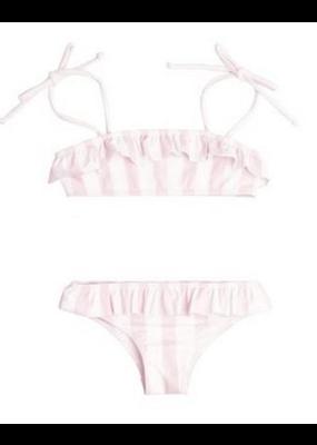 Minnow Swim Minnow Swim Pomelo Pink Stripe Bandeau Bikini 12M NWT