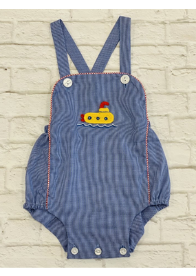 Claire & Charlie Claire &Charlie Royal Blue Check Submarine Bubble 24M NWT
