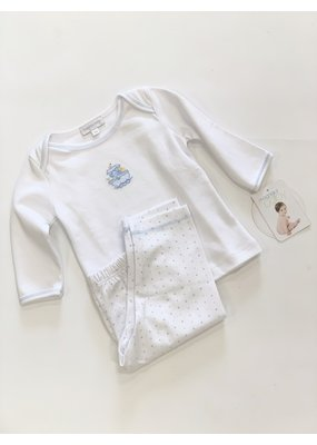 Magnolia Baby Magnolia Baby Blue Embroidered Noahs Friends Set 9M NWT