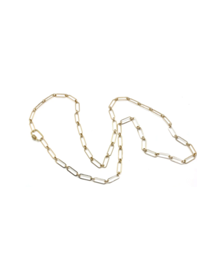 Accessory Concierge Pave Clasp Cable Chain Necklace