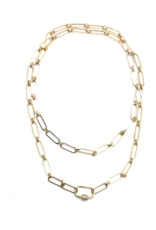 Accessory Concierge Pave Clasp Cable Chain Necklace