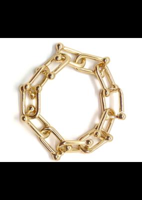Accessory Concierge  Barbell Link Chain Bracelet