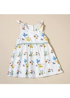 Viverano Viverano Shoulder Tie Dress w/Bloomer Set - Tropical Jungle/Natural