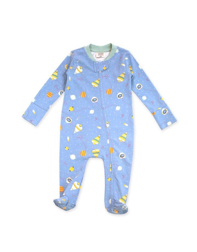 Viverano Viverano Zipper Coverall Romper - Space Dream/Blue