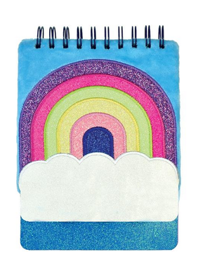 Iscream Rainbow Furry Sequin Journal
