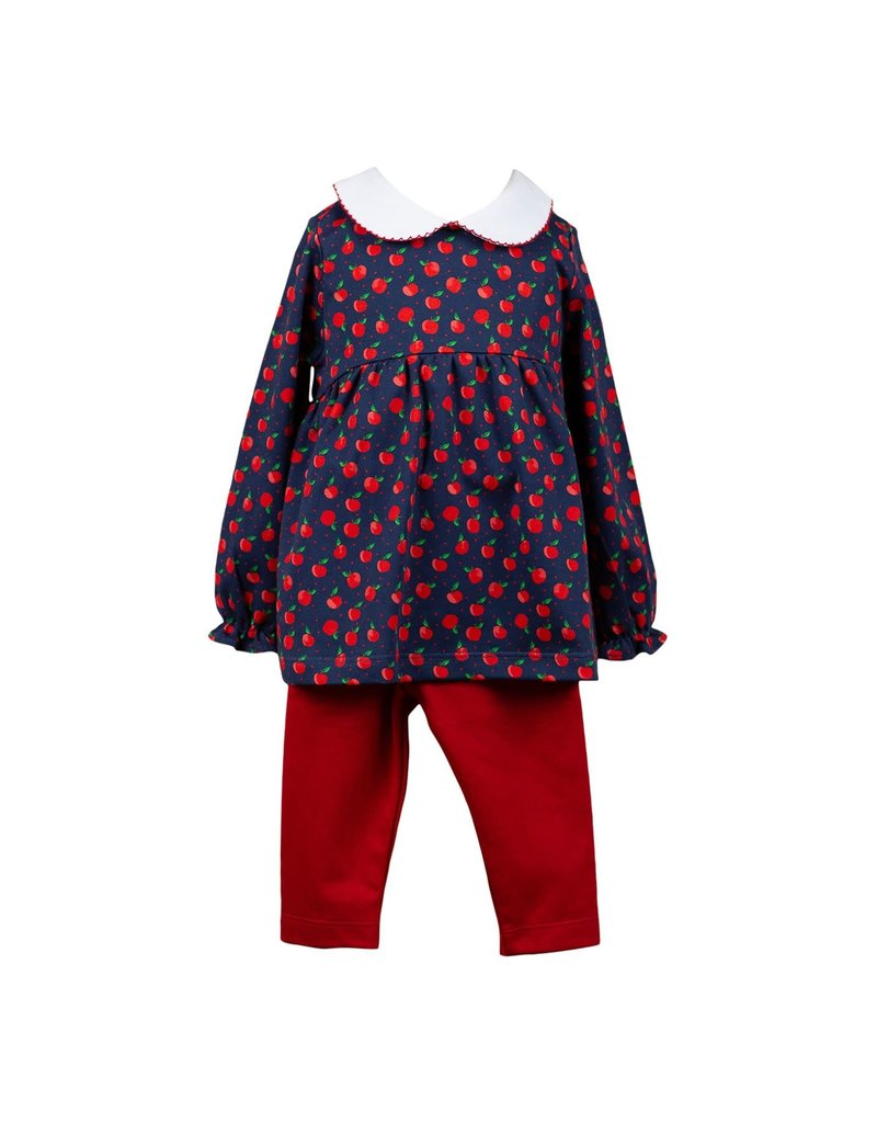 Proper Peony Proper Peony Archer Apple Tunic Top & Red Leggings Set