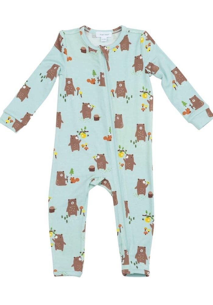 Angel Dear Baby Bears Zipper Romper