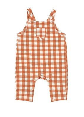 Angel Dear Angel Dear Gingham Pumpkin Pocket Coveralls