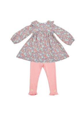 Angel Dear Angel Dear Vintage Garden Ruffle Dress