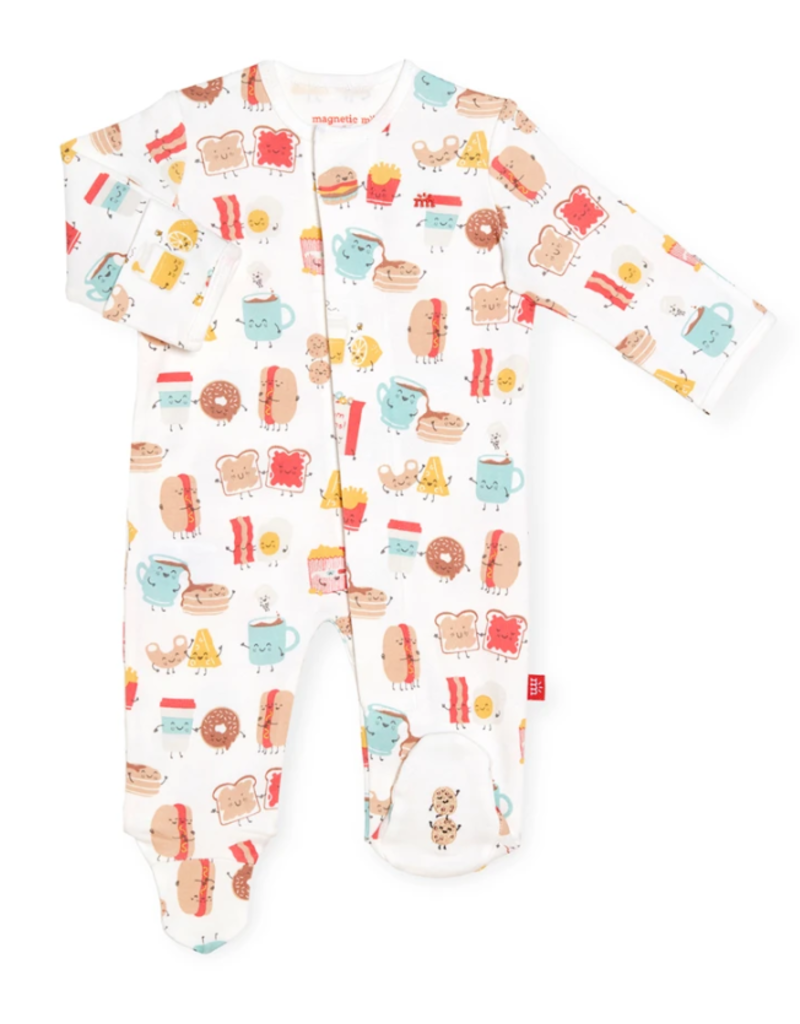 Magnetic Baby Magnetic Baby Better Together Organic Cotton Magnetic Footie