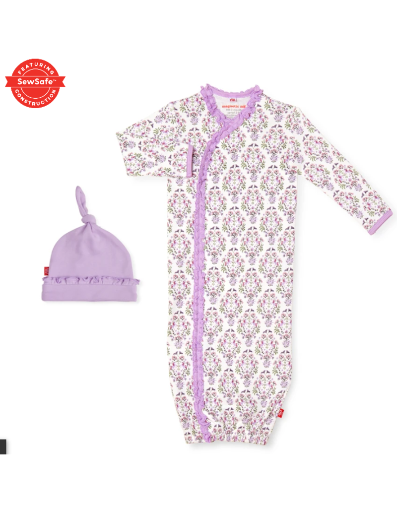 Magnetic Baby Magnetic Me Unicorn Dreams Organic Cotton Gown & Hat Newborn-3 Months
