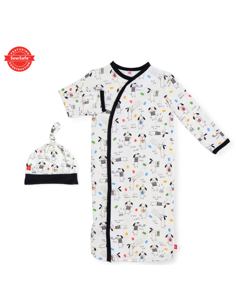 Magnetic Baby Magnetic Me Raise the Woof Modal Magnetic Gown & Hat Newborn - 3 Months