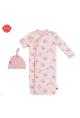 Magnetic Baby Magnetic Me Pink Little One Modal Magnetic Gown & Hat Newborn - 3 Months
