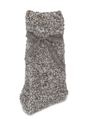 Barefoot Dreams Barefoot Dreams Cozychic Men's Heathered Socks- Charcoal/White