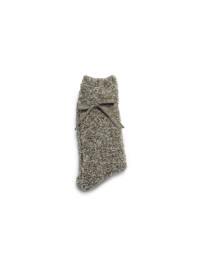 Barefoot Dreams Barefoot Dreams Cozychic Men's Heathered Socks- Warm Gray/White