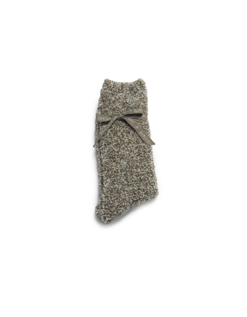 Barefoot Dreams Barefoot Dreams Cozychic Men's Heathered Socks- Warm Gray/White