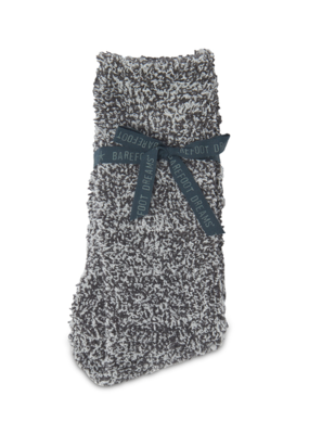 Barefoot Dreams Barefoot Dreams Cozychic Men's Heathered Socks- Slate Blue/White
