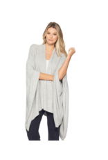 Barefoot Dreams Barefoot Dreams Cozychic Lite Heathered Weekend Wrap Pewter Pearl O/S