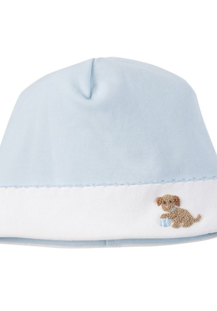 Blue Puppy Cap 0-3 Months