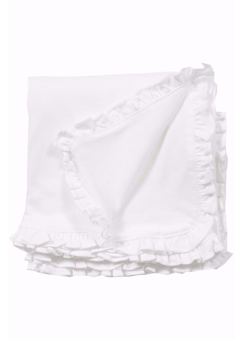 Lila and Hayes Lila and Hayes Blanket Ruffled - White