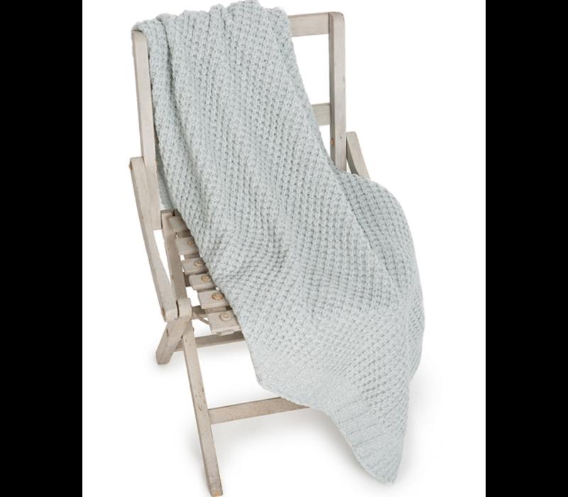 Barefoot Dreams Waffle Baby Blanket 30x32 Seaglass