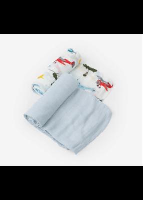 Little Unicorn Little Unicorn Deluxe Muslin Swaddle Blanket Set Air Show