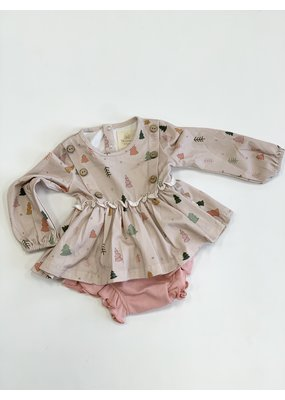 Charming Mary Charming Mary Tree Farm Tunic Top & Bloomer Set