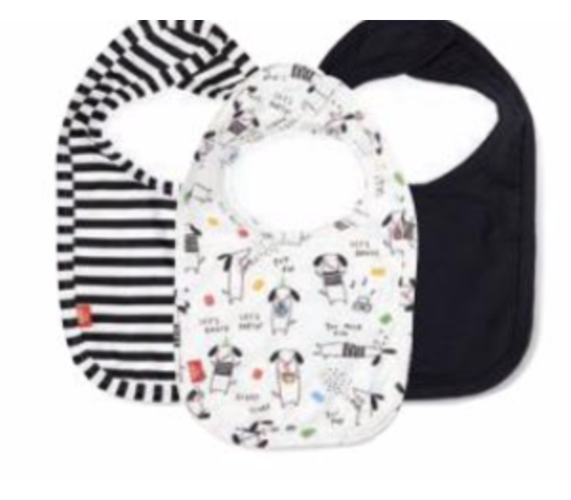 Magnetic Me Raise the Woof Modal Magnetic Bibs 3 Pack