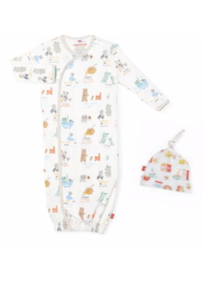 Magnetic Baby Magnetic Me My Year of First's Org Cotton Gown & Hat NB