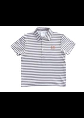 Prodoh Prodoh Game Performance Polo Orange w/Gray Stripe