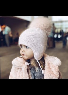Petit Maison Petit Maison Pink Cashmere Aviator Hat