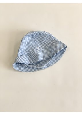 The Beaufort Bonnet Company The Beaufort Bonnet Company Blue Gingham Sun Hat Medium