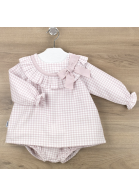 Babidu Babidu Valencia Dress w/ Diaper Cover Pink