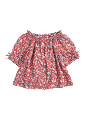 Little English BLE Millie Top Red Daisy