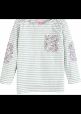 Bisby Bisby by Little English Breton Top Kensington Floral Green Stripe