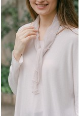 Cobblestone Living Seraphina L/S top w/scarf in Pale Pink