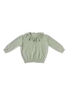 Quincy Mae Quincy Mae Petal Knit Sweater & Bloomer Set in Sage