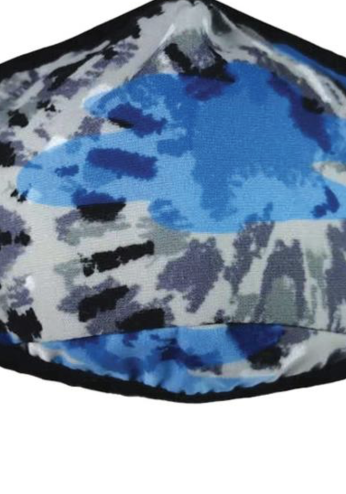 IS Blue Tie Dye Face Mask - Child