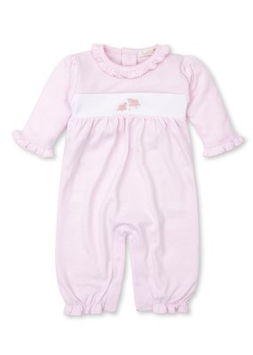 Kissy Kissy KK Playsuit w/Hand Emb Premier Sheep Lt Pink