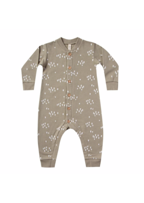 Quincy Mae Quincy Mae Fleece Jumpsuit Olive