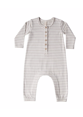 Quincy Mae Quincy Mae Fleece Jumpsuit Fog