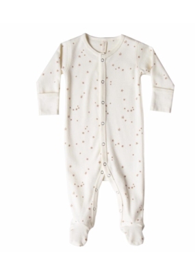 Quincy Mae QM Full Snap Footie Ivory
