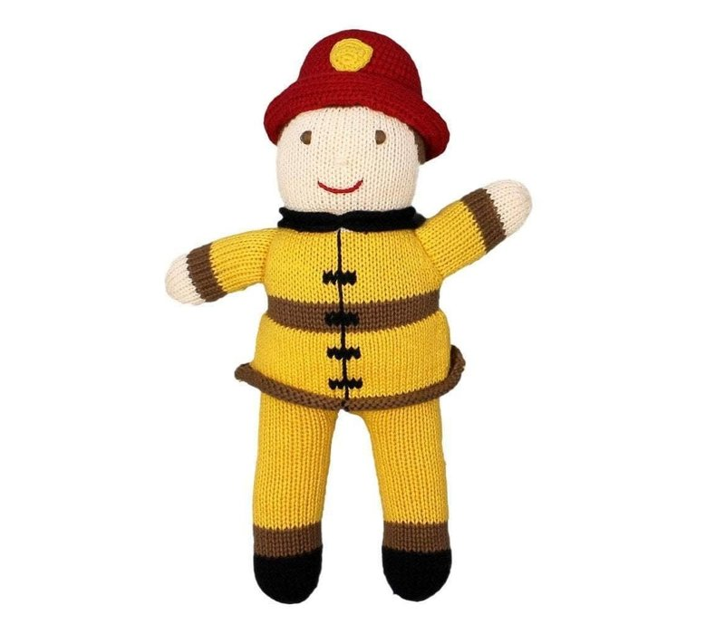 """Zubel 7"""" Frank the Firefighter Rattle"""