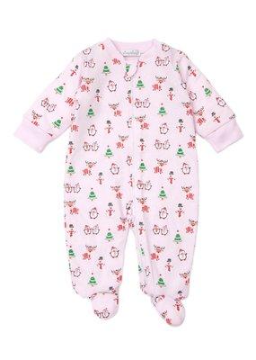 Kissy Kissy KK Footie w/Zip PRT Reindeer Fun Pink
