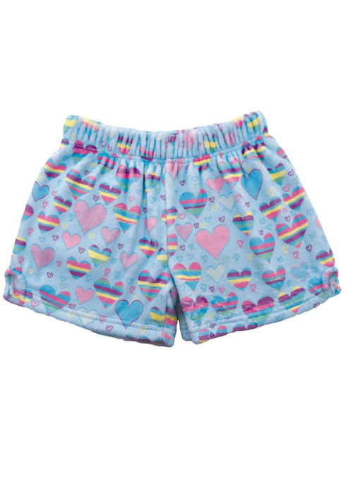 IS Striped Hearts Plush Shorts