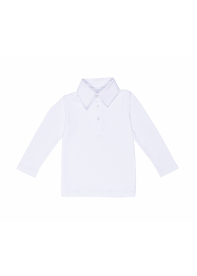 Lila and Hayes Lila & Hayes - Finn - L/S Polo White
