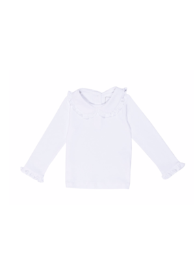 Lila and Hayes Lila & Hayes - Allison - Ruffled Peter Pan Collar Shirt